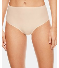 chantelle women's soft stretch one size seamless hi waist thong underwear 1069, online only