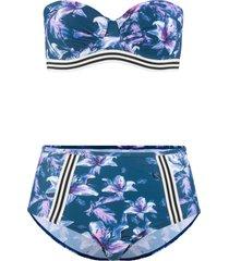 bikini a balconcino con ferretto (set 2 pezzi) (blu) - rainbow