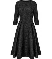 sukienka w czarne kwiaty ballerina