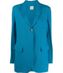 alysi classic tailored blazer - blue