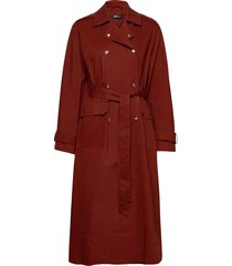 sally trench coat trenchcoat lange jas rood gina tricot