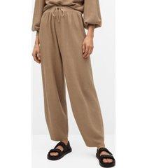 elastic waist cotton pants