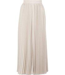 champagne pleated midi skirt