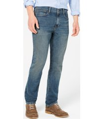 tommy hilfiger men's straight fit stretch jeans, created for macy's