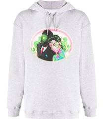 opening ceremony figures relaxed-fit hoodie - grey