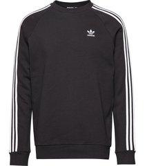 3-stripes crew sweat-shirt tröja svart adidas originals