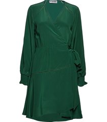 ingjerd korte jurk groen fall winter spring summer