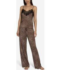 midnight bakery women's nala printed animal cami pajama set
