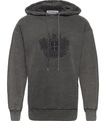 artwork hoodie hoodie trui grijs han kjøbenhavn