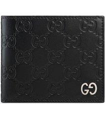 gucci gg supreme folding wallet - black