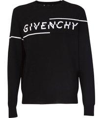 givenchy split logo sweater