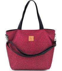 duża torba shopperka mili duo - burgund