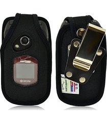 turtleback kyocera duraxv, duraxa flip phone fitted case - made in usa (black ny