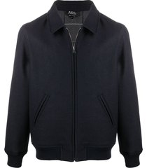 a.p.c. sutherland harrington jacket - blue
