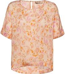 palma chintz blouse blouses short-sleeved oranje mos mosh