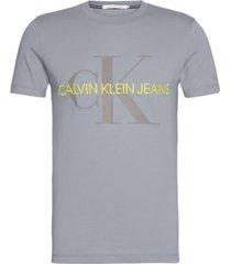 camiseta slim de algodón orgánico con logo calvin klein