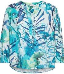 blouse 3/4-sleeve blus långärmad grön gerry weber edition