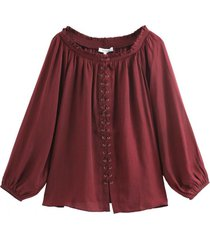 blusa acordonada burdeos nicopoly