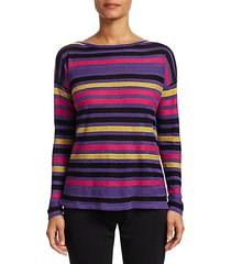 collection silk linen stripe pullover
