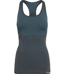 hmlclea seamless top t-shirts & tops sleeveless blå hummel