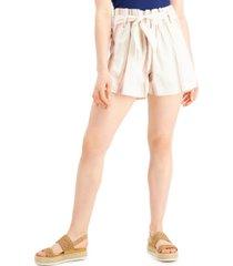 indigo rein juniors' striped belted shorts