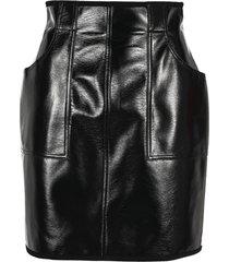 philosophy vinyl mini skirt