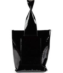 marc jacobs women's flat leather shopper bag - black