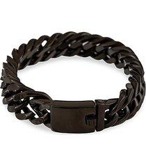 christian black-painted titanium chain bracelet