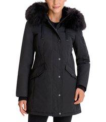 bcbgeneration faux-fur-trim hooded parka