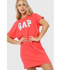 vestido coral gap logo