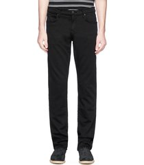 'kane' straight cotton-blend pants