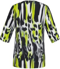 blouse met 3/4-mouwen en v-hals van doris streich zwart