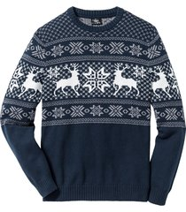 pullover con motivi norvegesi regular fit (blu) - bpc bonprix collection