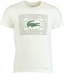 lacoste t-shirt wit met logo th5097/70v
