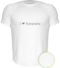 camiseta manga curta nerderia i love typography branco - branco - masculino - dafiti