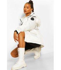 parka jas met faux fur zoom en biezen, white