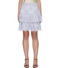 'the lovestruck' floral applique mini skirt