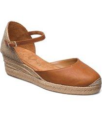 cisca_21_cre sandalette med klack espadrilles beige unisa