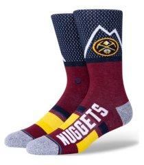 stance men's denver nuggets shortcut 2 crew socks