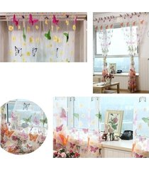 ventana moderna de la cortina de la mariposa grande de impresión pantallas del bolsillo de rod inicio salón decoración - 1.4x2.7m