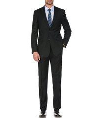 english laundry men's slim-fit wool suit - black - size 42 l