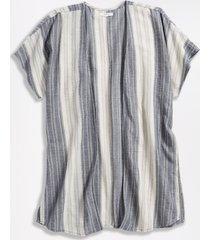 maurices womens stripe drop shoulder open front kimono blue