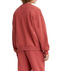 men's levi's red tab(tm) crewneck sweatshirt, size medium - red