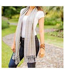 cotton scarf, 'fresh blue' (guatemala)