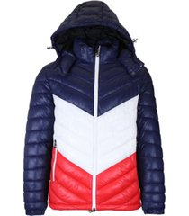galaxy by harvic men's heavyweight quilted hooded puffer bubble jacket