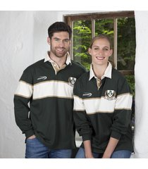 adults ireland rugby sweatshirt longsleeved dark green large