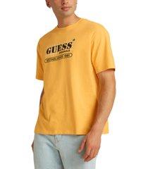 guess men's originals grid logo graphic t-shirt