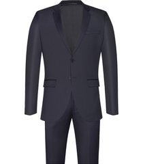 karl suit kostym blå bruuns bazaar