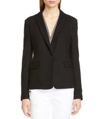 women's rag & bone lexington wool blazer, size 4 - black