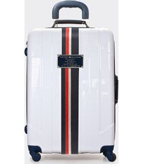 """tommy hilfiger women's 21"""" spinner suitcase white -"""
